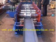 China Galvanized Automatic Seamless Gutter Machine , Rain Gutter Roll Forming Machinery distributor